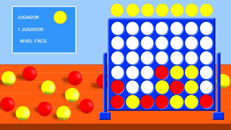 Imagen del juego educativo del Cuatro en Raya